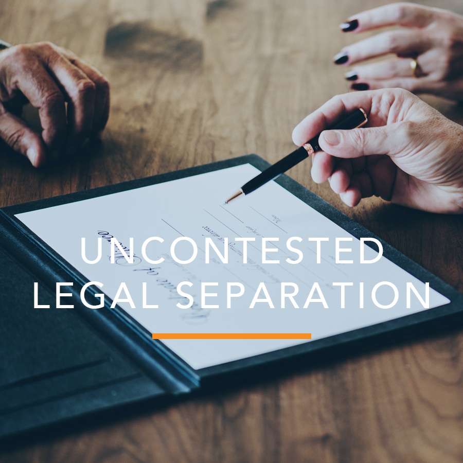 Uncontested Legal Separation
