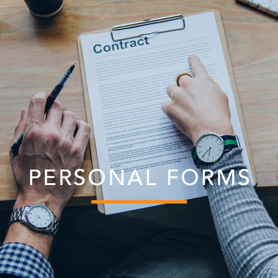 Proof of Service: Personal Forms