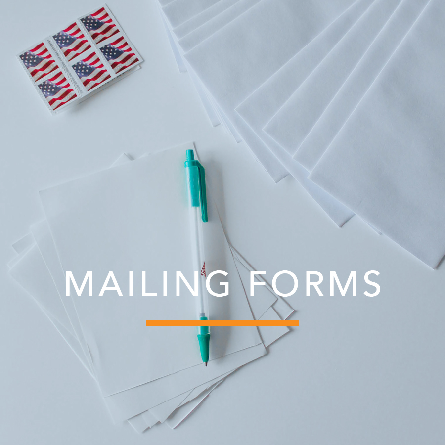 Proof of Service: Mailing Forms