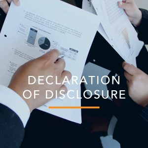 Attachment to Declaration of Disclosure