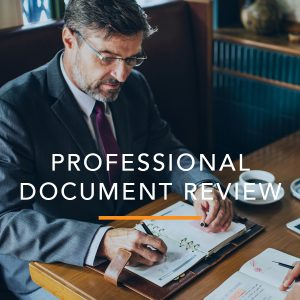 Professional Document Review